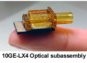 10GE-LX4 Optical aubassembly
